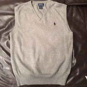 Ralph Lauren sweater vest boys 10/12